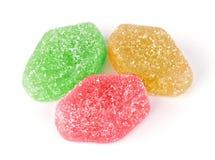 五颜六色的果冻糖果特写镜头  库存照片