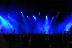 音乐会人群 免版税库存图片