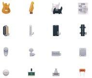 Διανυσματικό σύνολο εικονιδίων μερών κιθάρων Στοκ φωτογραφίες με δικαίωμα ελεύθερης χρήσης