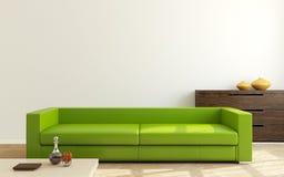 现代客厅。 免版税库存照片