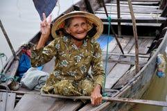 老妇人的纵向 免版税库存图片