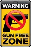 Знак свободной зоны пушки Стоковые Фотографии RF