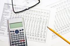 财务报表 免版税图库摄影