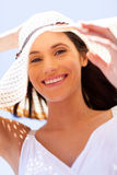 Καπέλο γυναικείου καλοκαιριού Στοκ Εικόνες