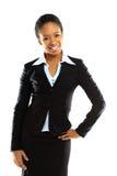 一个成功的新女商人的纵向 库存图片