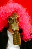 Αστείο πρόσωπο στη μάσκα αερίου Στοκ φωτογραφίες με δικαίωμα ελεύθερης χρήσης