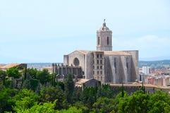 希罗纳大教堂。 西班牙 免版税图库摄影