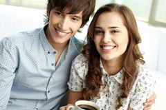 新夫妇 免版税图库摄影