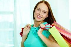 微笑的客户 免版税库存照片