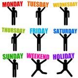 Дни недели Стоковые Изображения
