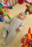 兴奋婴孩 图库摄影