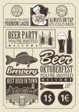 Θέμα της μπύρας Στοκ Εικόνες
