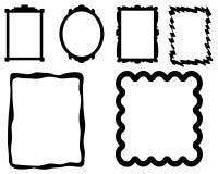 简单的照片框架 库存图片