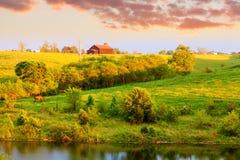 农厂横向 免版税库存图片
