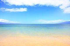 假期夏天海滩海洋背景 免版税图库摄影