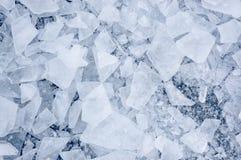 被打碎的冰 免版税图库摄影