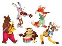 音乐家动物。 免版税库存照片