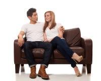 偶然新夫妇 免版税库存图片