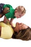 拿着她的男婴的母亲 库存照片