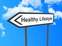 到健康生活方式的方向 免版税库存照片