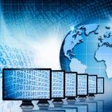 Παγκόσμιες επικοινωνίες και Διαδίκτυο. Στοκ Εικόνες