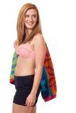 游泳衣的妇女 免版税库存图片