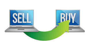 网上出售和购买概念 免版税图库摄影