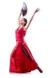 女性舞蹈演员跳舞 免版税库存图片