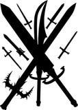 剑 向量例证