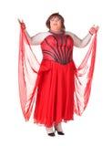 Жизнерадостный человек, ферзь сопротивления, в женском костюме Стоковое Фото