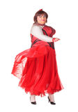 Жизнерадостный человек, ферзь сопротивления, в женском костюме Стоковые Фотографии RF