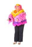 快乐的人,扮装皇后,一个女性诉讼的 库存照片