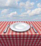 餐位餐具表 库存图片