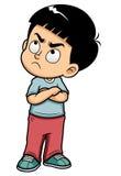 恼怒的十几岁的男孩 免版税图库摄影