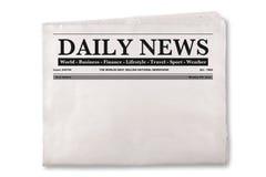 Пустая ежедневная газета Стоковая Фотография
