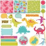 Комплект динозавра младенца Стоковое Изображение