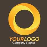 τρισδιάστατο πορτοκαλί λογότυπο Στοκ Εικόνες