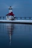 圣约瑟夫北部码头灯塔 免版税库存照片