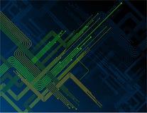 Раскосные зеленые линии в синей предпосылке Стоковое фото RF