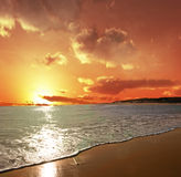 柔和的海浪 库存照片