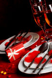 Романтичный обеденный стол Стоковые Фото