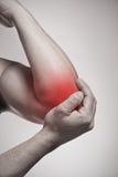 手肘痛苦 库存图片