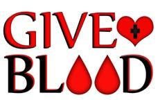 Дайте кровь, подарите принципиальную схему Стоковые Фотографии RF
