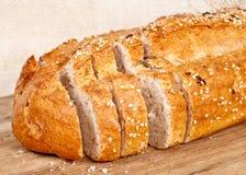 新鲜的被烘烤的传统面包 免版税库存照片