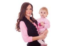 Мать и устрашенный ребенок Стоковые Изображения RF