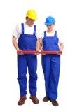 建造者夫妇成水平 免版税库存图片