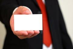 пустая визитная карточка Стоковая Фотография RF