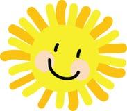 Чертеж ребенка Солнця Стоковое Фото