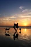 海滩的人们 图库摄影