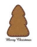 Рождественская елка джинсыов Стоковое Изображение